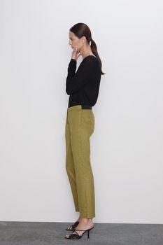 Pantaloni ZARA Galben in carouri 1478/225/074