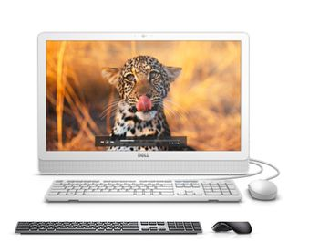 "AIl-in-One PC - 23,8"" DELL Inspiron 3464 FHD IPS, Intel® Core® i3-7100U (Dual Core, 2.40GHz, 3MB), 4Gb DDR4 RAM, 1TB HDD, DVD-RW, Intel® HD Graphics 620, HD Webcam, Wi-Fi-AC/BT4.0, KM636 Wireless KB&MS, Ubuntu, White"