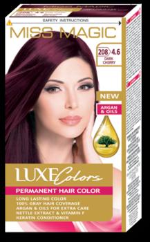 Vopsea p/u păr, SOLVEX Miss Magic Luxe Colors, 108 ml., 208 (4.6) - Roșcat închis