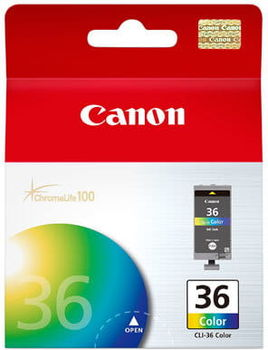 Ink Cartridge Canon CL-36, color (c.m.y), 12ml, for iP100, mini 260