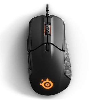 STEELSERIES Rival 310 / Professional-grade Gaming Mouse, Ergonomic Design, 12000dpi, 8 buttons, Optical sensor (Pixart TrueMove3), 2 RGB Zones Independently controlled lighting, Programmable buttons, SteelSeries Engine 3, Cable lenght 2m, USB, Black