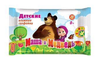купить HL7 Влажные дет. салфетки Маша и Медведь 20шт. 300015 в Кишинёве