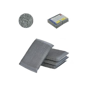 Профессиональный cкрабер из нержавеющей стали, 8x12cm (6шт)