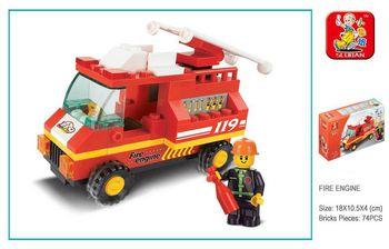Sluban Конструктор пожарная машина (74 дет)