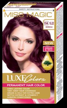 Краска для волос,SOLVEX Miss Magic Luxe Colors, 108 мл., 114 (5.22) - Бордо