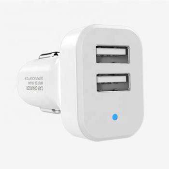 Зарядное устройство для автомобиля USB на 2 гнезда EZRA CR06