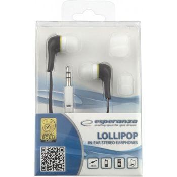"Esperanza EH146K ""LOLLIPOP"" Black, Stereo Iin-Ear Headphones"