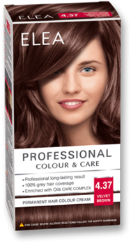 Краска для волос,SOLVEX Elea, 138 мл., 4.37 - Коричневый бархат