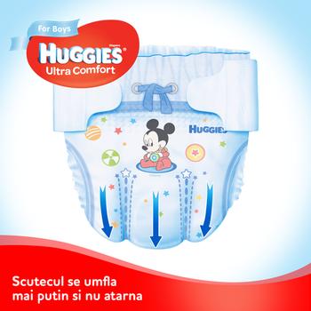 купить Подгузники для мальчиков Huggies Ultra Comfort 4 (8-14 kg), 66 шт. в Кишинёве