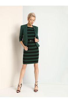 Платье TOP SECRET Зеленый/Черный SSU1656ZI