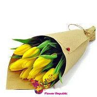 купить Букет из  11Желтых тюльпанов в Кишинёве