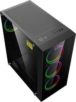 купить Case ATX GAMEMAX Draco XD, w/o PSU, 4x120mm ARGB fans. ARGB HUB, TG, Dust Filter, USB 3.1, Black в Кишинёве