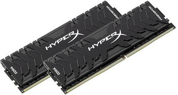 16GB (Kit of 2*8GB) DDR4-3333  Kingston HyperX® Predator DDR4 (Dual Channel Kit), PC26660, CL16, 1.35V, BLACK heat spreader, Intel XMP Ready (Extreme Memory Profiles)