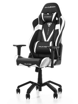 Gaming Chairs DXRacer - Valkyrie GC-V03-NW-B2, Black/White/Black - PU leather, Gamer weight up to 115kg/growth 165-195cm, Foam Density 50kg/m3, 5-star  Aluminium Spider,Gas Lift 4 Class, Recline 90*-135*, Armrests:4D, Pillow-2, Caster-3*PU, W-21kg