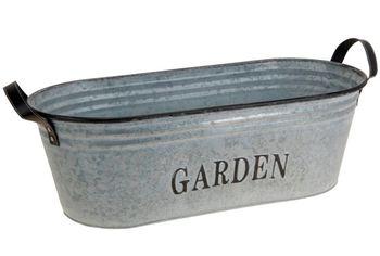 """Корзина для цветов """"Garden"""" H17cm, овал, металл"""