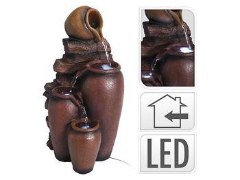 """Havuz decorativ """"Ulcioare"""" iluminat led, 40X23X21cm, ceramic"""