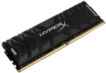 8GB DDR4-3000  Kingston HyperX® Predator DDR4, PC24000, CL15, 1.35V, Asymmetric BLACK low-profile heat spreader, Intel XMP Ready (Extreme Memory Profiles)