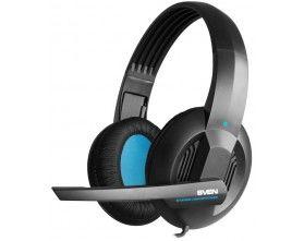 SVEN AP-680MV, Headphones with microphone, Volume control, SVEN PNC passive noise cancelling system, 2.5m, Black/Blue