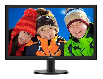 "23.6"" PHILIPS LED 243V5LHSB5 Black (1ms, 10M:1, 250cd, 1920x1080I, HDMI, DVI, VESA)"