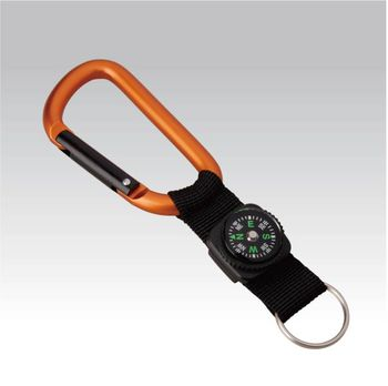 купить Брелок Munkees Carabiner 8mm w strap, compass and keyring, 3228 в Кишинёве