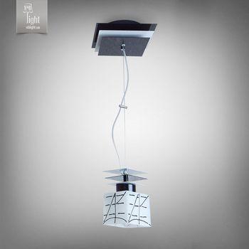 N&B Light Люстра Пиастра 10801-1 черный глянец/белый глянец