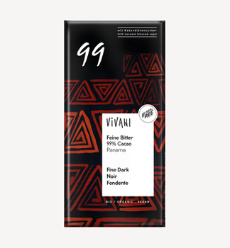 Ciocolată amară 99% bio Vivani 80g