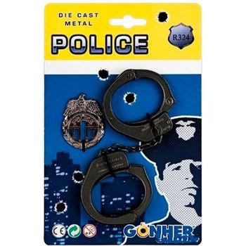 Набор полицейский: наручники и значок, код 43569