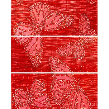Keros Ceramica Декор Mariposa Red 25x70см 3шт