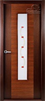купить Дверь КЛАССИКА ЛЮКС венге-падук остекленная в Кишинёве