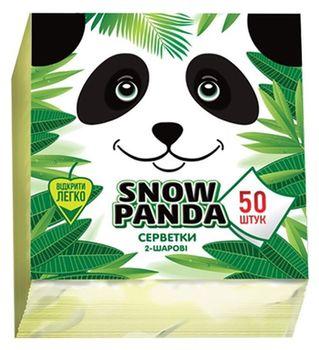 Șervețele de masă PANDA 24*24 2 str. 50 buc. albe, galbene, verde
