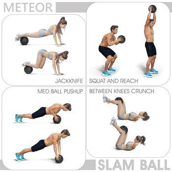 Медицинский мяч 6 кг inSPORTline Slam Ball 13480 (1493)