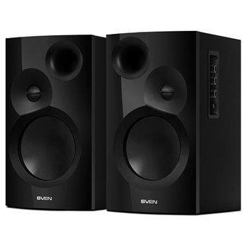 "SVEN SPS-701 Black,  2.0 / 2x20W RMS, Bluetooth, headphone jack, wooden, (4""+1"")"