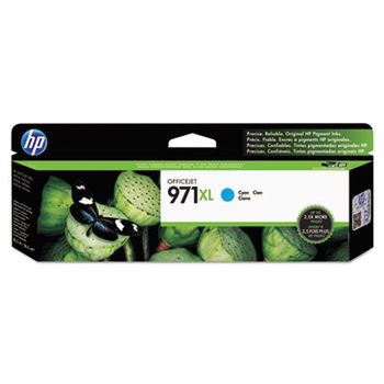 HP 971XL High Yield Cyan Original Ink Cartridge, up to 6600 pages