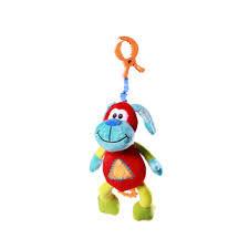 Игрушка велюровая с вибрацией Смеющаяся собачка