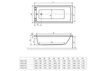 Ванна прямоугольная Excellent Aquaria 150