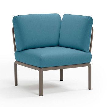Кресло модуль угловой с подушками Nardi KOMODO ELEMENTO ANGOLO TORTORA-adriatic Sunbrella 40374.10.142