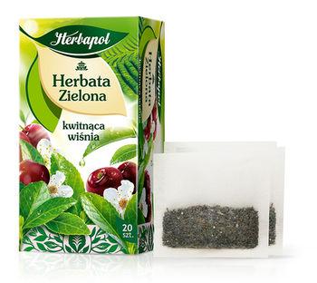 Чай зеленый Herbapol with Cherry Blossom, 20 шт