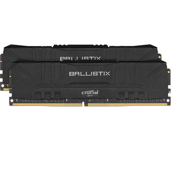 Оперативная память 16GB DDR4 Dual-Channel Kit Crucial Ballistix Black BL2K8G32C16U4B 16GB (2x8GB) DDR4 PC4-25600 3200MHz CL16, Retail (memorie/память)