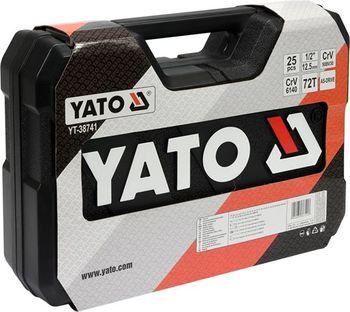 """купить Набор головок с трещоткой YATO 25 шт., - 1/2"""", YT38741 в Кишинёве"""
