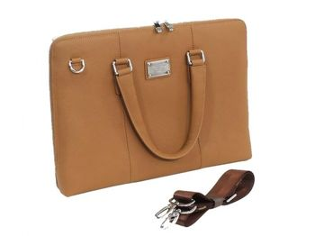 "15.6"" NB Bag - CONTINENT CL-105 BR, Brown, Briefcase, Natural Leather"