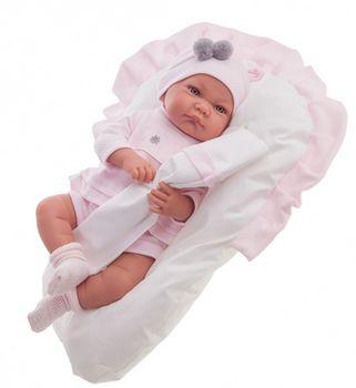 Кукла младенец Ники розовая 40 см Код 3382