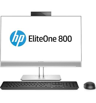 "All-in-One PC - 23.8"" HP EliteOne 800 G4 FullHD IPS +W10 Pro, Intel® Core® i7-8700 up to 4,6 GHz, 16GB DDR4 RAM, 512GB SSD, DVD-RW, CR, Intel® UHD 630 Graphics, 2Mp cam, Wi-Fi/BT5, GigaLAN, 180W PSU, Win10 Pro, Wireless KB/MS, Silver/Black"