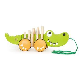 купить Hape Деревянная игрушка каталка Крокодил в Кишинёве