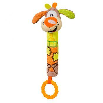 Игрушка-пищалка с прорезывателем Собачка