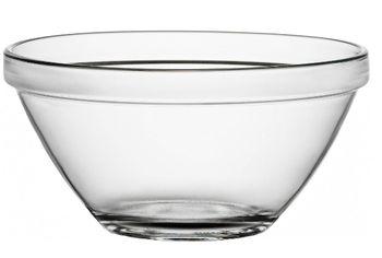 Салатница стеклянная Pompei 1.7l, D20cm