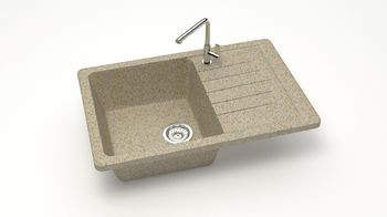 купить Матовые кухонные мойки из литьевого мрамора  (песочный.)  F016Q5 в Кишинёве