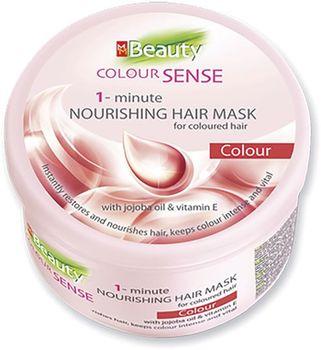 Mască pentru păr vopsit, SOLVEX MM Beauty Colour Sense Vital, 490 ml., efect 1 minută, hrănitoare, cu ulei de jojoba și vitamina E