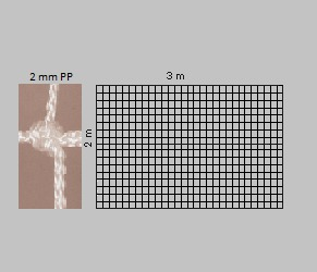 Заслонка для гандбольной сетки 2 мм / 3х2 м 12925-177 (2674)
