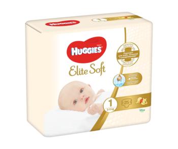 купить Подгузники Huggies Elite Soft 1 (3-5 kg), 25 шт. в Кишинёве