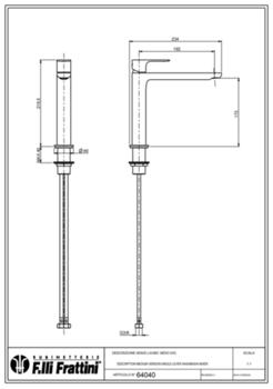 Смеситель для раковины Fratelli Frattini LEA 64040